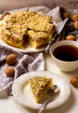 Dates cake with crumb Royalty Free Stock Images