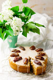 Dates cake with glaze Stock Photo