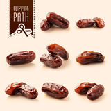 Dates with clipping path Royalty Free Stock Images