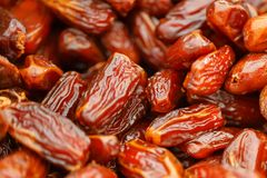 Dates close-up, texture and beautiful background stock images