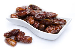 Dates in a cup Royalty Free Stock Photo