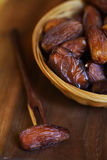 Dates, dried preserved sweet fruits Royalty Free Stock Photography