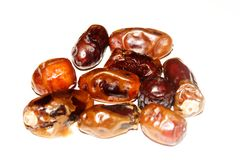 Dates are typical foods from Arabia. Dates are foods from Arabia which are usually for appetizers breaking the fast for Muslims stock image