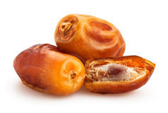 Dates fruit. Group on white Royalty Free Stock Photography