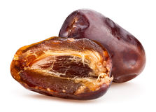 Dates fruit. On white background Royalty Free Stock Images