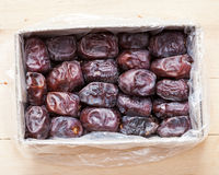 Dates fruits in box. Stock Photo