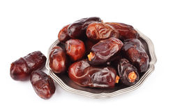 Dates fruits closeup Royalty Free Stock Images