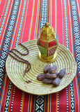 Dates and islamic lamp royalty free stock image