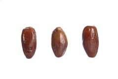 Dates isolated over white Royalty Free Stock Images
