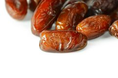 Dates isolated on white background Royalty Free Stock Image