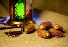 Dates and lantern Royalty Free Stock Images