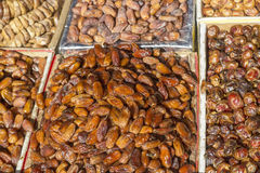 Dates on a market in Morocco Stock Images