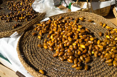 Dates in a market. Dates  for sale on a street market stall Stock Photo