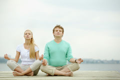 Dates meditating Royalty Free Stock Photo