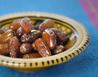 Dates in moroccan bowl Stock Image