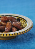 Dates in moroccan bowl Stock Photography