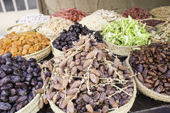 Dates and nuts Royalty Free Stock Images
