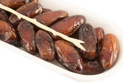Dates in package Royalty Free Stock Images
