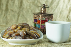 Dates on the Plate Royalty Free Stock Images