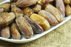 Dates on the Plate Royalty Free Stock Image