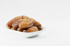 Dates on the Plate Royalty Free Stock Photography