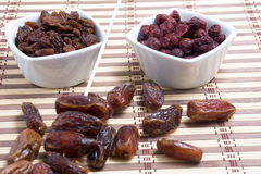 Dates and raisins Royalty Free Stock Image