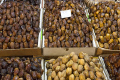 Dates for sale on a market in Morocco. Africa Stock Photography