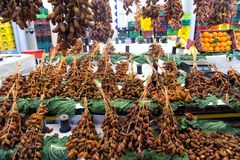 Dates Market in Tunis, Tunisia royalty free stock image