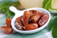Dates on the table Royalty Free Stock Photography