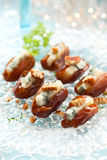 Dates stuffed with blue cheese Stock Photography