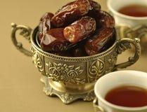 dates tea Arkivfoton
