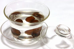 Dates Tea. A glass of healthy dates tea Royalty Free Stock Photo