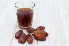 Dates and tea Royalty Free Stock Photography