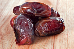 Dates - Traditional Islamic food. Close-up shot of a group of dates Royalty Free Stock Photo