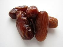 Dates from Tunisia on a white background. stock photos