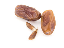 Dates. On a white background stock photography