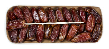 Dates on a white background Royalty Free Stock Image