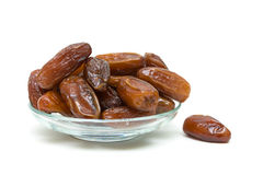 Dates on a white background closeup Royalty Free Stock Photos