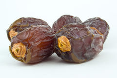 Dates on white background Royalty Free Stock Images