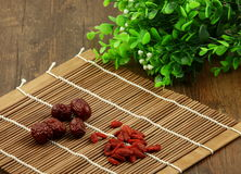 Dates wolfberry et rouges chinoises Image stock