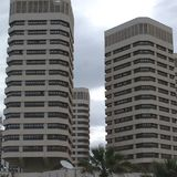 Dath al-Imad towers. Tripoli, Lybia - May 02, 2002: Dath al-Imad towers in Tripoli Royalty Free Stock Image