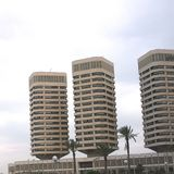 Dath al-Imad towers. Tripoli, Lybia - May 02, 2002: Dath al-Imad towers in Tripoli Royalty Free Stock Photo
