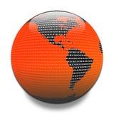 Dati attraverso il globo illustrazione di stock