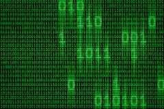Dati binari del computer di Digital e scorrere il fondo di concetto di codice fotografia stock libera da diritti