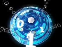 Dati blu Immagini Stock