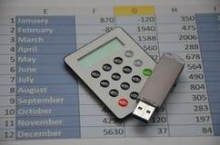 Dati contabili finanziari della scheda di dati fotografia stock libera da diritti