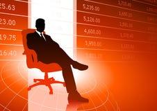 Dati del mercato azionario dell'uomo d'affari Immagini Stock Libere da Diritti