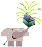 Dati dell'elefante Fotografie Stock Libere da Diritti