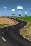 Dati della nube fotografie stock libere da diritti
