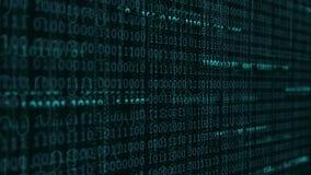 Dati di Digital e fondo del file binario illustrazione vettoriale